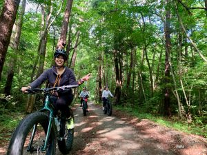 Forest Gravel Fatbike Ride in Nasu
