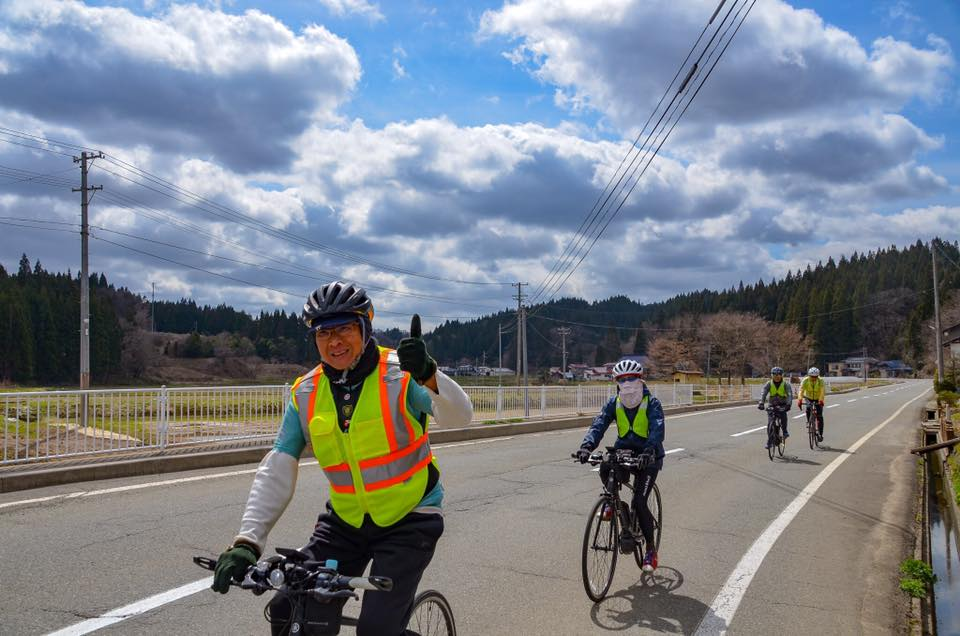 The stage 4 of Trans-Tohoku SAKURA Bike Tour