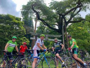Australian cyclists in Nasu