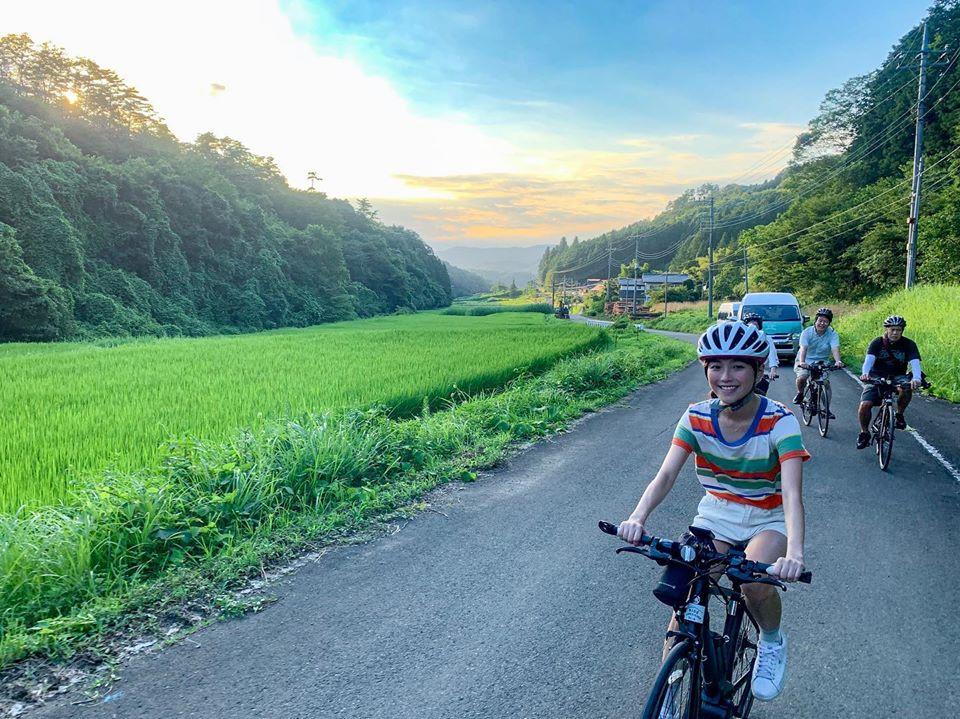 Cycling tour from Hotel Iizuka-tei in Nakagawa Cho