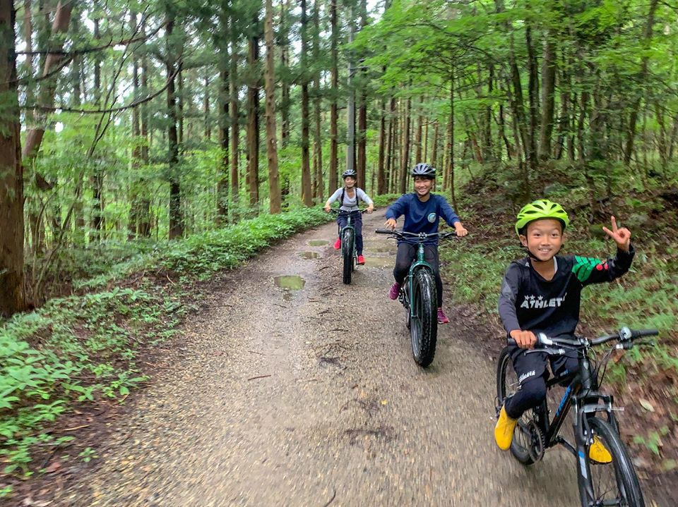 Exciting fat-bike ride