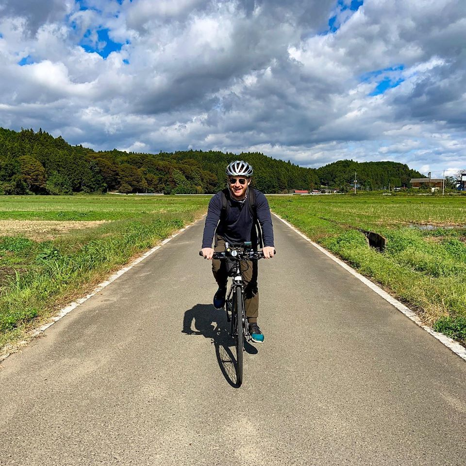 The day2 of a Honeymoon Cycling Tour in Nasu