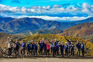 The 1st stage of Nasu Aizu Autumn Bike Tour