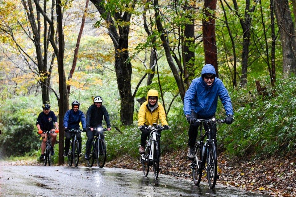 The stage 3 of Nasu-Aizu Autumn Bike Tour