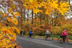 The stage 2 of Nasu-Aizu Autumn Bike Tour
